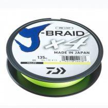 Daiwa J-Braid X4 Yellow Fonott Zsinór 135m
