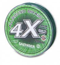 Saenger  4 X Allround Braid Green Fonott Zsinór 200m