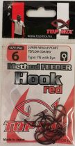 Top Mix Method Feeder Horog Vörös