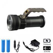Ledes Cserélhető Akkus Keresőlámpa Zoom Extra Erős T6 LED Csepp és Porálló